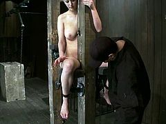 Cherry Torn is the sexy blonde featured in this extreme bondage BDSM porn video where she's anal toyed and spanked a bit.