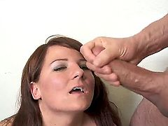 Young and very horny chick Casey Cumz has beautiful blue and this fact makes her perfect for sucking dicks! Her new lover Peter North can not get his dick from her sucking mouth!
