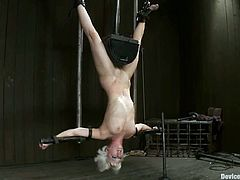 Ariel X and Cherry Torn are the two hot girls getting hung upside down in this extreme bondage video.