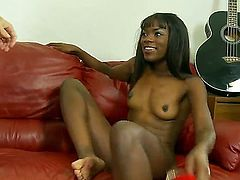 Hardcore Ebony slut Ana Foxxx fucks with white boyfriend Davie Drehyden