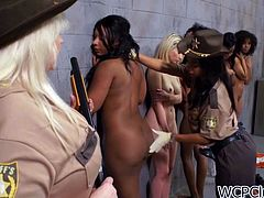 Amber Steel and Imani Rose are two lesbian black girls who are going to have some very hot sex in the female prison.