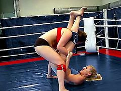 Lesbian catfight scene with Brandy Smile and Tigerr Benson would make you aroused. You would like to see these magnetic teen chicks having cool wrestling on a boxing ring.