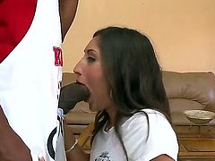 Alexis Breeze has never expected this dick to be so big. It is so fucking huge that it barely manages to stick in her mouth. The throbbing dick head wants to destroy her mouth completely.