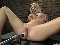 If you like fucking machines, well you'll love this amazing scene where this sexy babe has more many orgasms with the help of a machine.