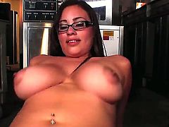 The office worker Selena Castro is the horniest bitch, that prefers the wild oral games. Her glasses make her face more sexy, she swallows the bosses dick and dreams to get her salary