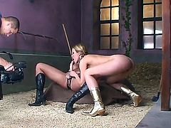 Lesbian pussy-eating and strap on playing scene with participation of Sophie Moone and Zafira would drive you crazy! Watch these chicks becoming very naughty on camera.