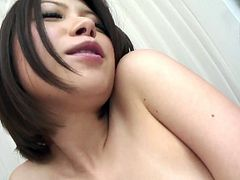 Several sex toys are more than useful cuz this bitchie Japanese chick has too hairy cunt. Spoiled nympho stretches legs wide, jams her tits and moans while getting her cunt polished with a dildo.