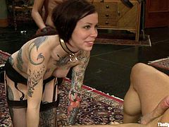 When it comes to bondage games, these hotties love to please themselves and their master. See how they play with one another.