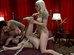 These two kinky ladies have an amazing time with one another in this feet worshiping fetish scene where they end up having a threesome with a guy.