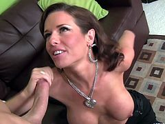 Chris Strokes is waiting at his friend's place when his friend's mom shows up. It's Veronica Avluv and she's a gorgeous 40 year old milf who desperately wants to eat his tight little asshole and suck his cock. She uses her tongue with skill and gives him the rimjob of a lifetime. He is so lucky.