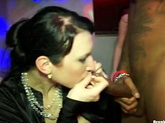 Numerous of too voracious sluts get together. Ordinary B'day party turns into a hot group sex. Spoiled nymphos with flossy asses and sweet tits moan of delight. Kinky blondie gets banged mish, slutty brunette sucks stiff dicks for cum. Gosh, you'd better press play and enjoy hot Tainster sex clip.