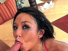 Keanni Lei is a horny brunette whore who craves a dick! Today she gets it in her sweet mouth and it looks so crazy! I am sure that you will like it, dear friends! Watch and enjoy!