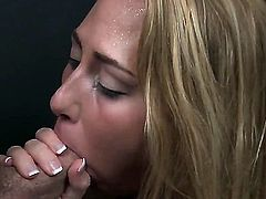 White redhead Carter Cruise sucking a hairy dick feeling hot.