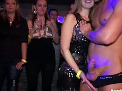 Now that's a party! These captivating hotties are ready to get some dick in their mouths and pussies. Dude, I'm kinda sure you will like this fantastic group sex video.