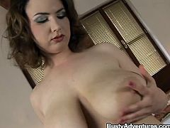 Big hot boobs, a naughty big ass and pink lips that are perfect for wrapping around a hard cock. Yep, Lucia is one of those classic beauties that we love to see here at Busty Adventures. She plays with her big soft boobs and taunts us until she will reveal more. Let's keep her some company!