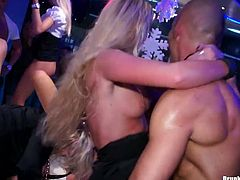 These ruined drunk sluts in steamy lingerie and stockings are not shy to make out in front of each other. They give tongue fuck to each other and get banged in missionary, doggy and cowgirl styles in steamy group sex video by Tainster.