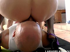 Torrid dick rider Lara Latex desires to get her anus polished tough