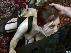 This slaves and their mistress will be sucking the masters's dicks and then lick their mistress pussy on the couch in after getting lashed.