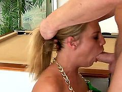 Horny honey Charisma Cappelli has oral sex of her lifetime with hard cocked guy