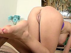 This time I just wanna strongly recommend you to enjoy from the great view of how Emmanuelle London is playing with penis. She does her magic feet to bring pleasure to man.