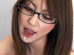 Ms. Matsushima is here and she is fucking one of her younger associates bossing them in her office uniform.