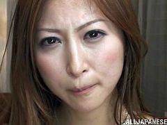 Sexy Japanese bitch Reira Aisaki is playing dirty games with two men. She sucks their dicks devotedly and then gets her cunt and asshole ripped apart.