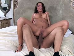 Scorching brunette whore with big boobs Anna Nova knows how to give a good blowjob to her lover. She takes his juicy dick in her mouth, sucks it back and forth and then she gets her tight asshole brutally fucked like never before.