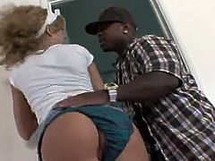 Chastity Lynn may seem like a cute lovely blonde teen but the tiny broad is actually a sex freak who loves interracial sex with big black guys.