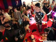 Hardcore party ending up with  dirty messy orgy