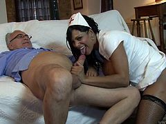 Jim Slip fingerfucks and fucks one hussy brunette