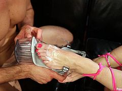 Incredible Rough Sex With A Hot Blonde After Worshiping Her Feet