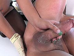 Tasty fuckable brunette vixen Maze ride a giant throbbing massivel pulsatted shafted Vin till she squirts