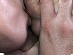 Bosomy Japanese MILF Airi Ai lets her horny boy suck her massive tender boobs. Dude gets naked and Airi attacks that prick with her mouth.