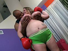 bbw knows how to punch and suck