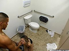 She finds the nearest bathroom and she drags a fella in there and sits on him bouncing her way to orgasm.