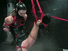 There's going to be some pretty extreme bondage and torture situations in this video featuring Charlotte Brooke and Claire Adams.