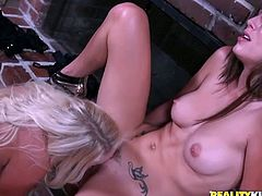 One jaw dropping babe keeps her legs wide open and enjoys tongue job. Be ready for exciting Reality Kings porn tube video featuring two sweet lesbians licking each others pussies.