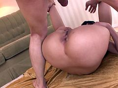 Ardent Japanese brunette in black lingerie has threesome tonight. Lewd chick wanna get DP. Tough drilling of her wet hairy pussy from behind will be more than perfect for reaching multiple orgasm at once. If you're seeking for pleasure, this Jav HD sex clip is a great choice.