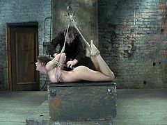 Throat fucking Chanel Preston while she's totally tied up and immobilized is a very hot thing, as you can see in this clip.