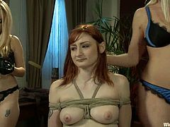 Lesbian BDSM are so fucking hot to watch. Babes do some cruel things and this time two mistresses join to make that babe go through pain!