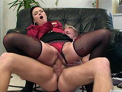 Dude, this brunette will make your mouth water. Ardent slim bitch in sexy stuff has such a smooth and appetizing ass. This torrid dick rider thirsts to be analfucked as tough as possible to reach multiple orgasm at once. Check amazing filth with sweet tits in Tainster sex clip to jerk off and jizz.