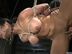 Beretta James gets her holes fingered and fucked in awesome BDSM scene