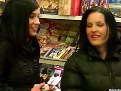 Well, these gals are bored. So slim brunettes in jeans and black jackets desire to have fun. Kinky chicks with flushing cheeks has a catfight on the snow covered ground. They giggle while smacking each other's asses, kiss passionately and will just make you jizz right here and now with Tainster sex clip.