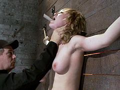 It's BDSM shit with the blonde Lily Labeau getting totally tied up, tit tortured and toyed in a bondage and domination video.