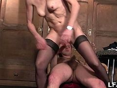 Amateur french granny loves spreading her legs. Watch her first pounding on camera and how she sucks and fucks like a whore.