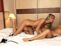 Vanda Lust trying to make her lesbian friend, Ivana Sugar, entirely pleased by licking her young tight pussy and rubbing natural boobies. Ivana is doing to her best too. Enjoy