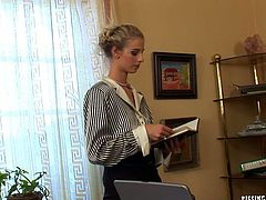 Three sextractive young managers gather in the office of their boss for annual meeting, which ends up with a massive group sex orgy where they give him a blowjob in sizzling hot groups sex video by Tainster.