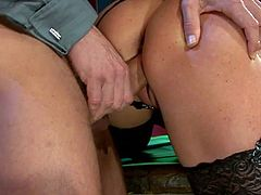 Two spoiled milfs get pissed by aroused daddy before they tongue fuck each other
