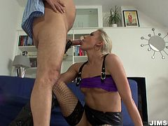 Jim Slip enjoys tight anus of one hussy girl Angel Long