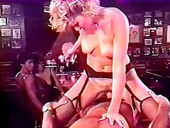 Busty female fuck inside the night bar